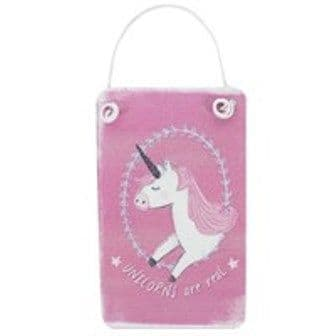 Mini Pink Unicorn Metal Sign